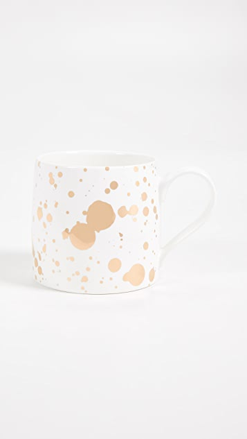 Slant Collections Splatter Paint Jumbo Coffee Mug