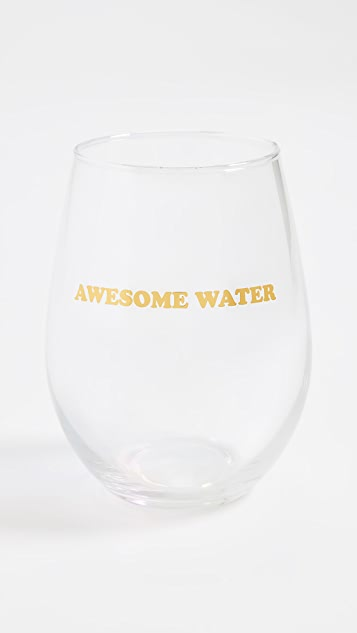 Slant Collections Awesome Stemless Wine Glass