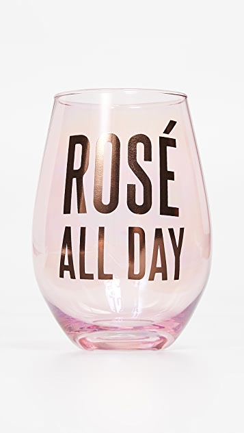 Slant Collections Rose All Day Jumbo Stemless Wineglass