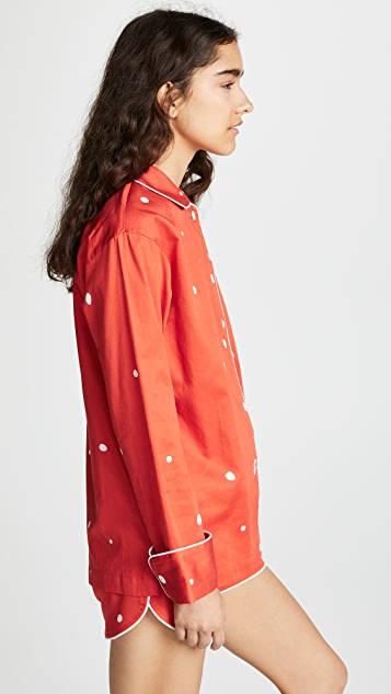 Sleeper Blur on Red PJ Set