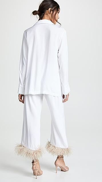 Sleeper White Pajama Suit