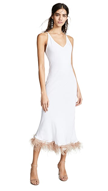 Sleeper White Viscose Slip Dress