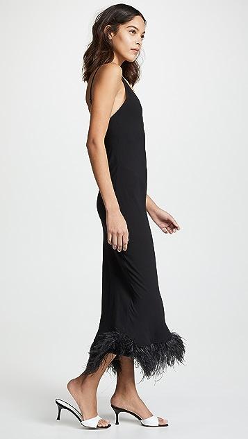 Sleeper Black Viscose Slip Dress