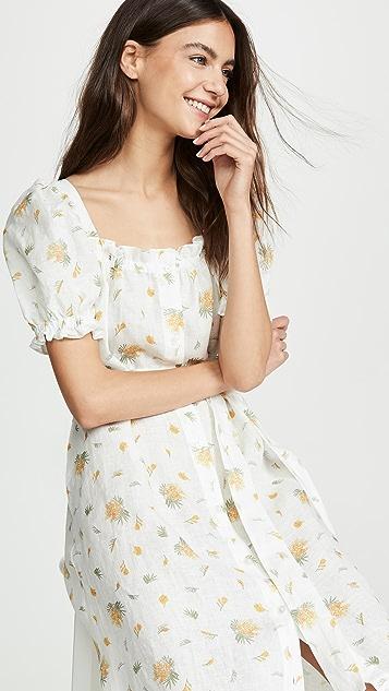 Sleeper Brigitte Linen Maxi Dress