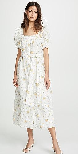 Sleeper - Brigitte Linen Maxi Dress