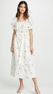Brigitte Linen Maxi Dress
