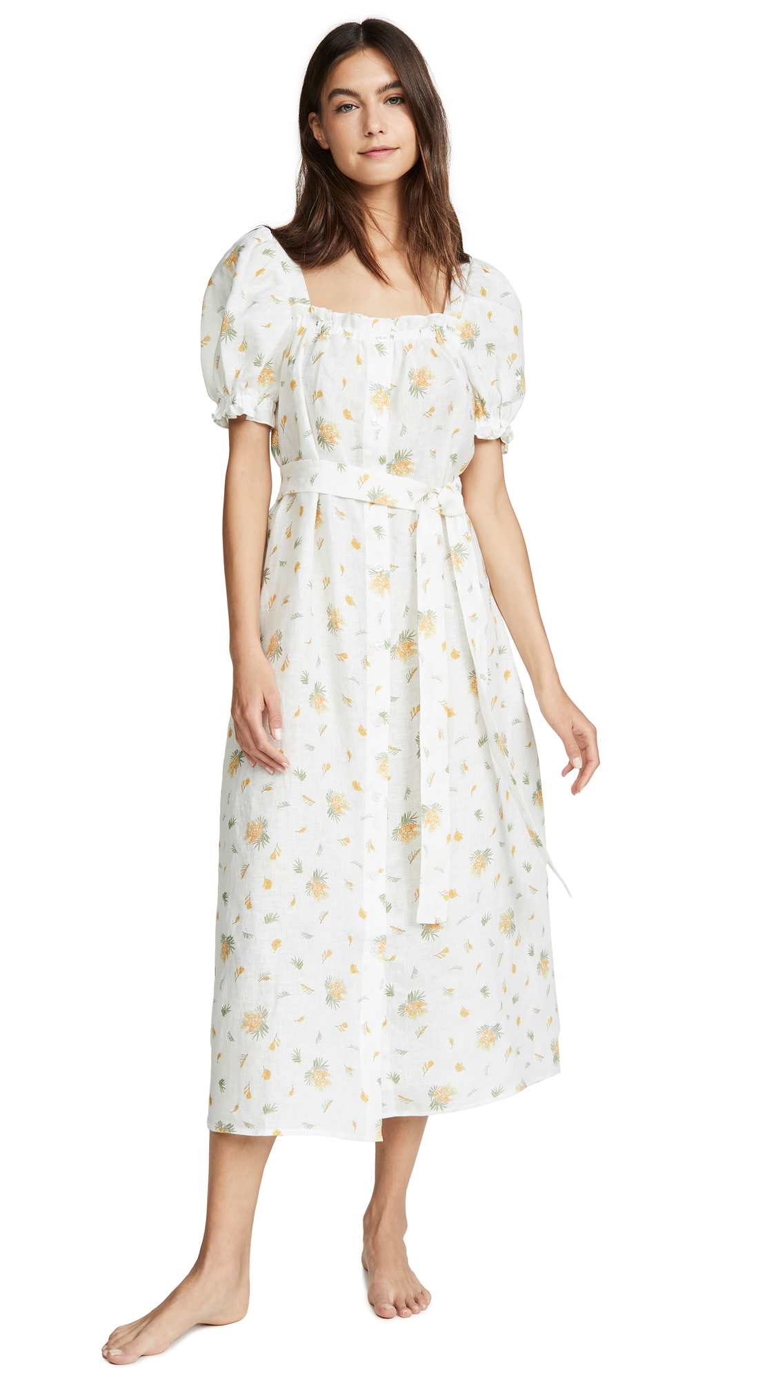 Sleeper Brigitte Linen Maxi Dress