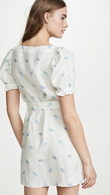Sleeper Brigitte Linen Mini Dress