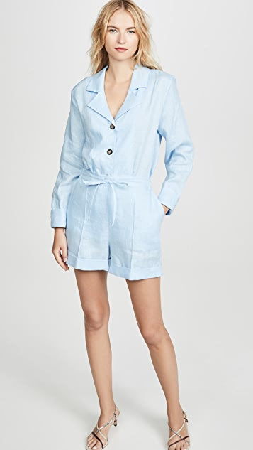 Sleeper Relaxed Fit Linen Shorts PJ Set
