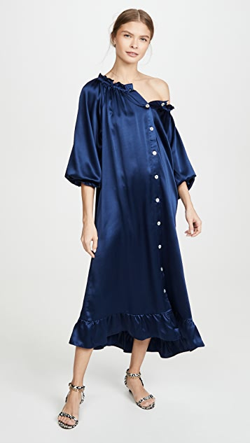 Sleeper Curacao Silk Loungewear Dress