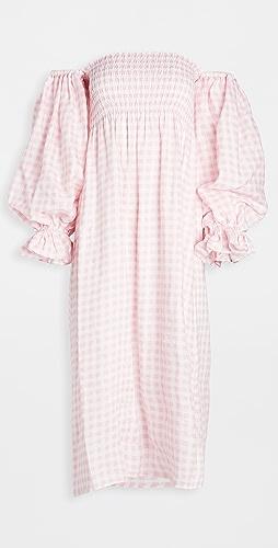 Sleeper - Atlanta Linen Dress in Pink Vichy