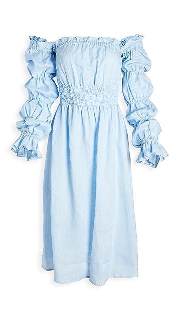 Sleeper Michelin Linen Dress