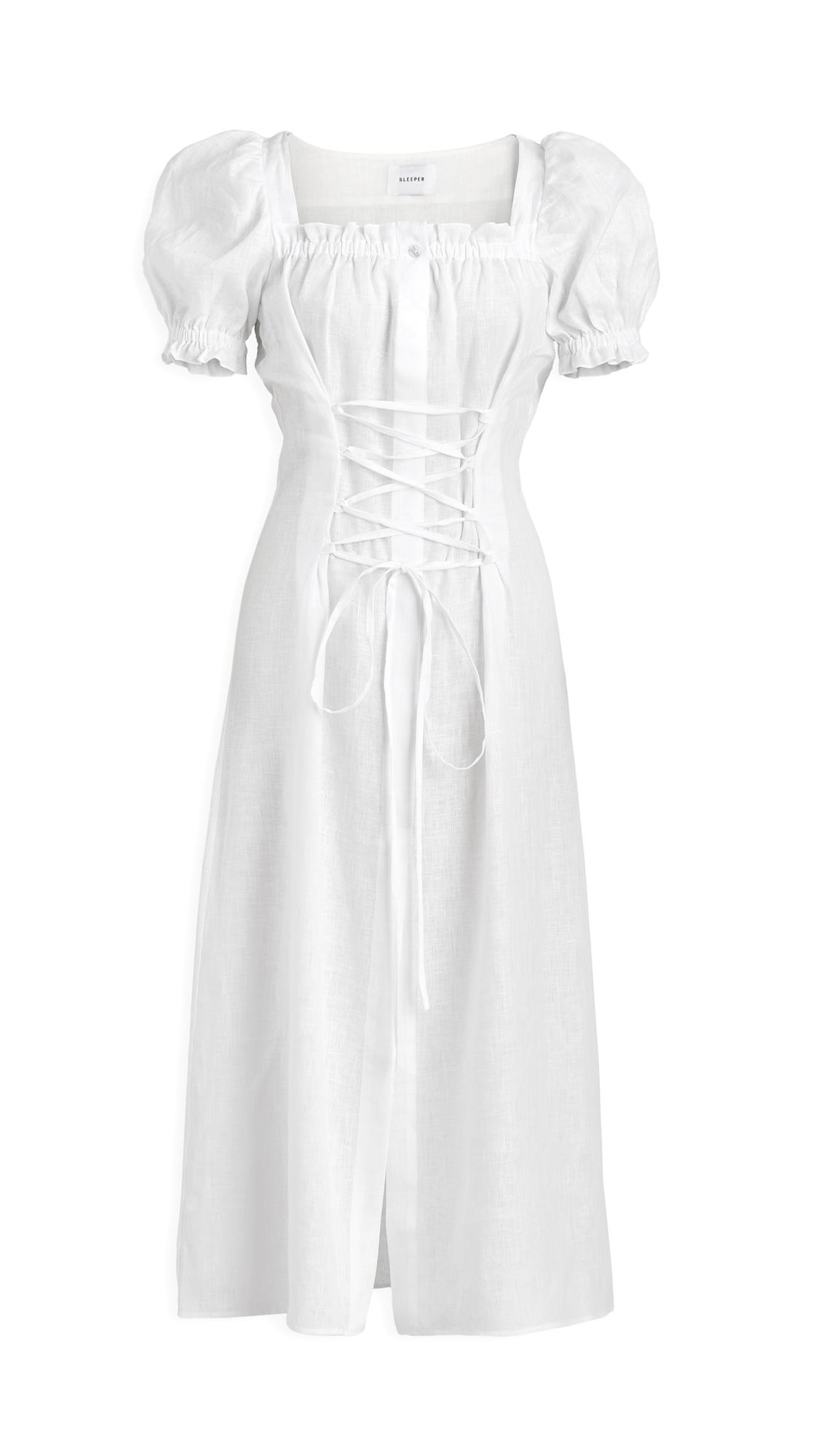 Sleeper Marquise Linen Dress