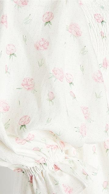 Sleeper Atlanta Linen Dress in Roses