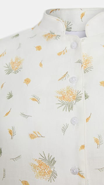 Sleeper Lounge Linen Suit In Mimosa