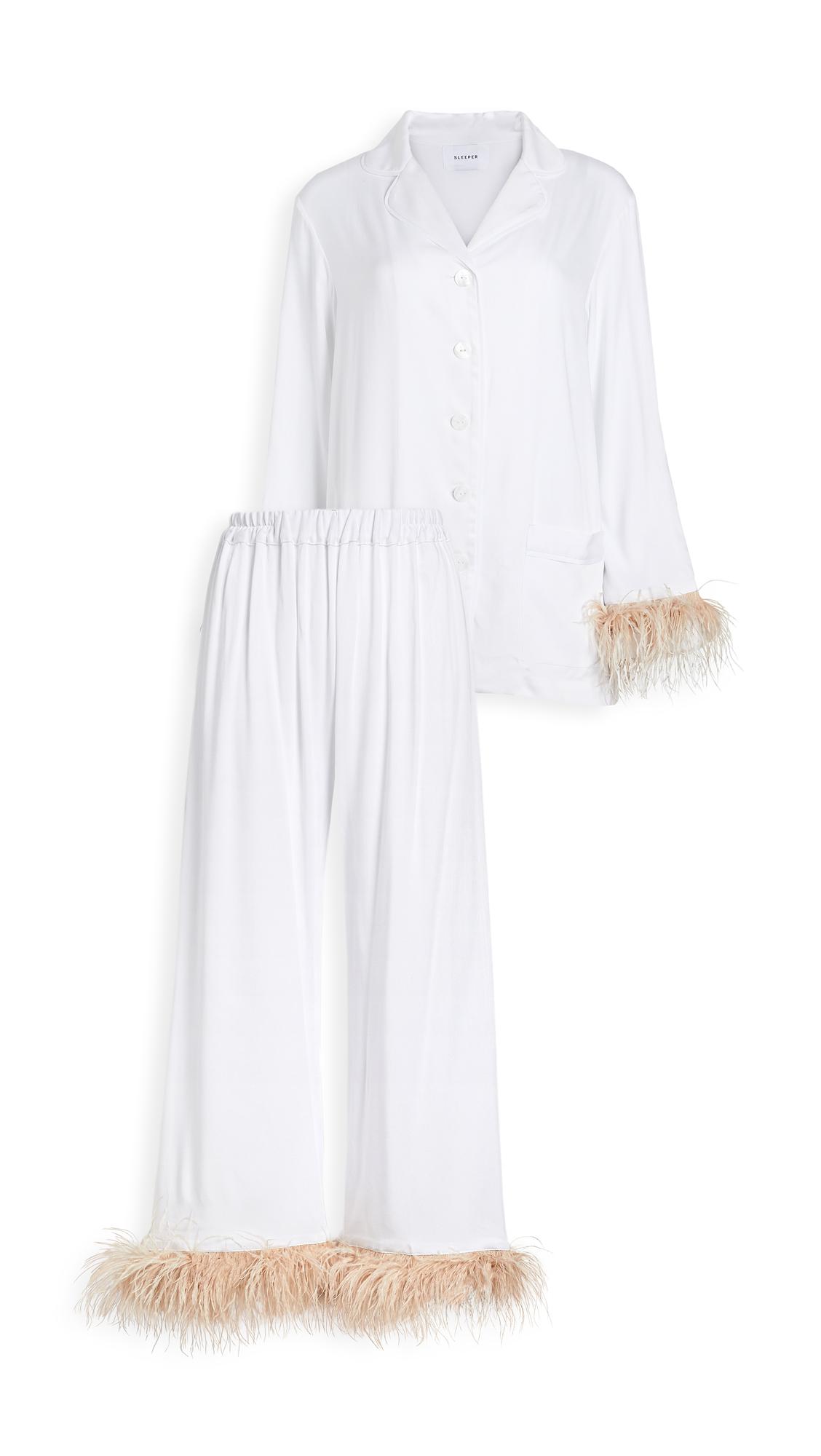 Sleeper Pajama Set with Feathers