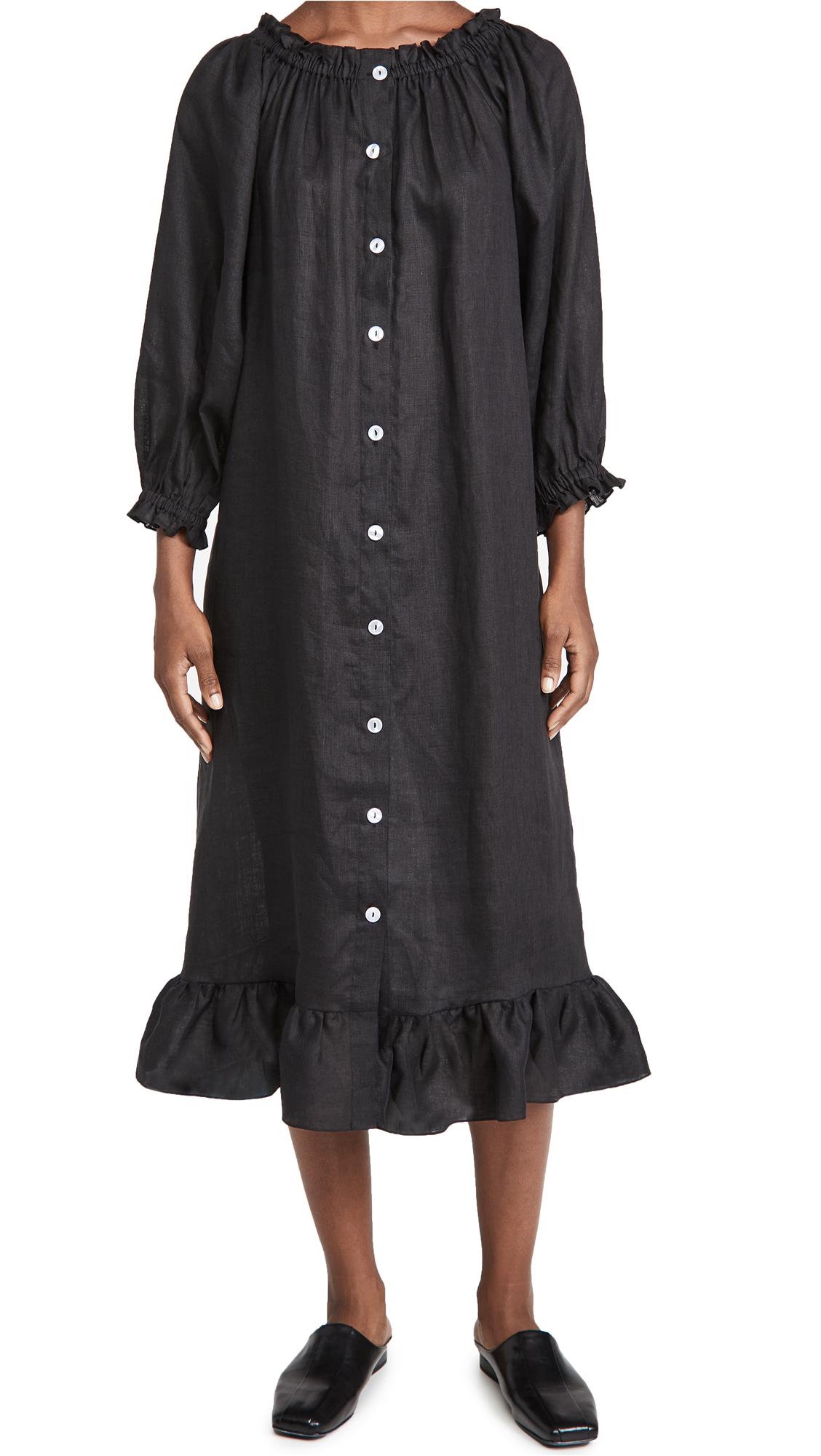 Sleeper Coal Black Loungewear Dress