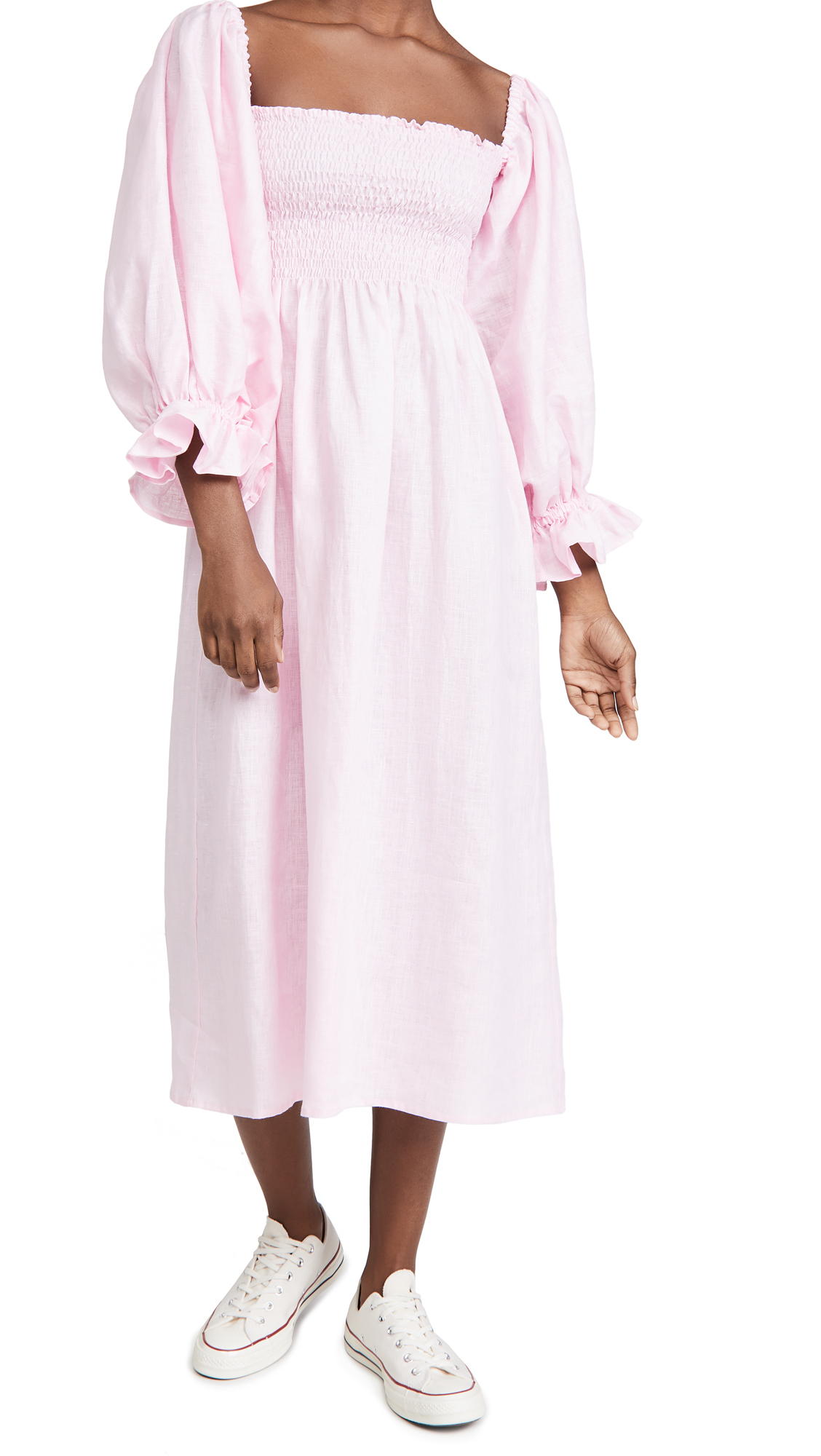 Sleeper Atlanta Linen Dress in Pink