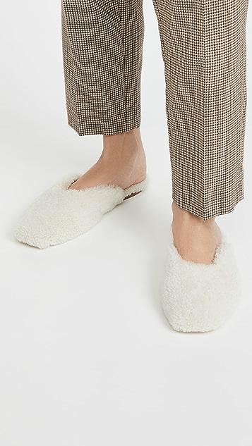Sleeper 连毛羊皮浅口便鞋