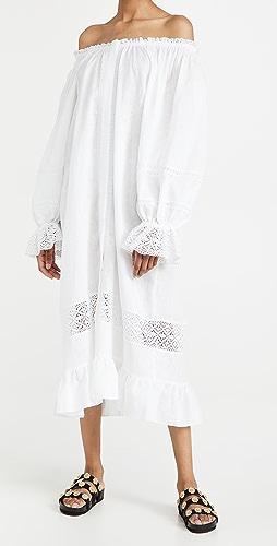 Sleeper - Paloma Linen Dress in White