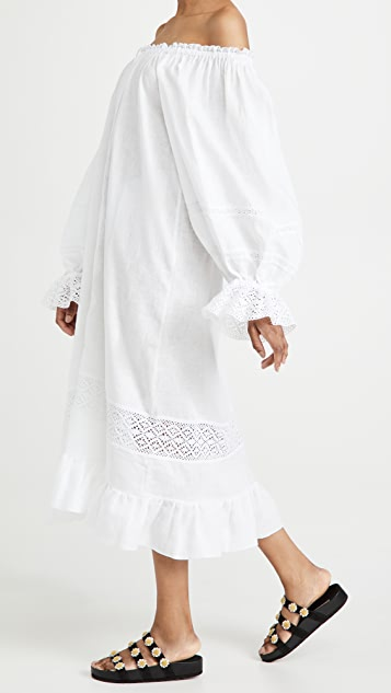 Sleeper Paloma Linen Dress in White
