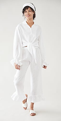 Sleeper - Rumba Linen Lounge Suit In White