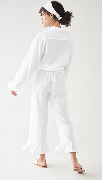 Sleeper Rumba 白色亚麻居家套装