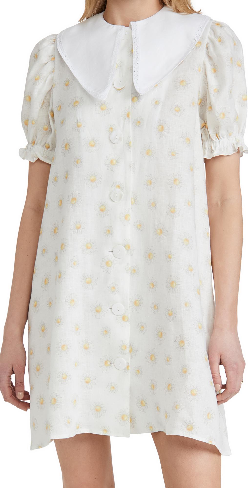 Sleeper Dresses MARIE LINEN DRESS IN DAISIES