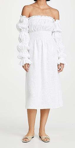 Sleeper - Michelin Linen Dress In White