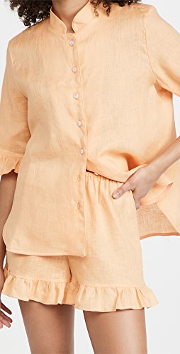 Sleeper - Linen Lounge Suit In Coral