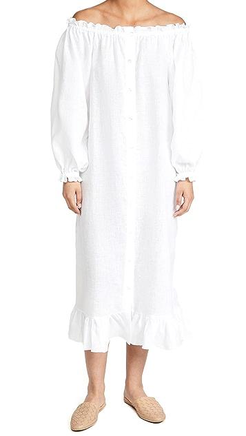 Sleeper 白色居家连衣裙