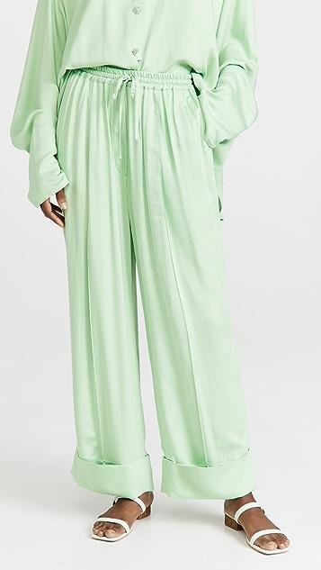 Sleeper Sizeless Viscose Pajama Set In Mint