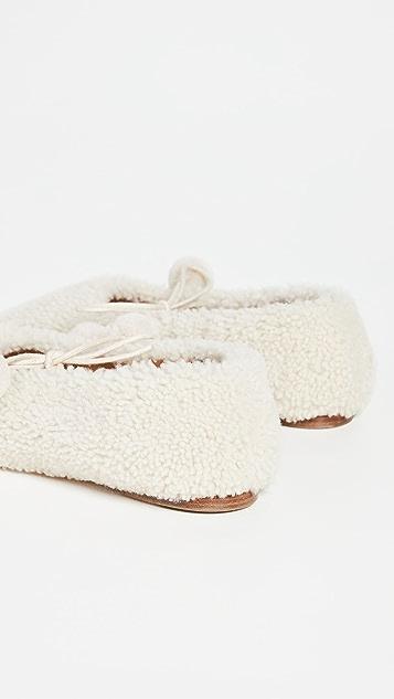 Sleeper Lulu 连毛羊皮凉鞋