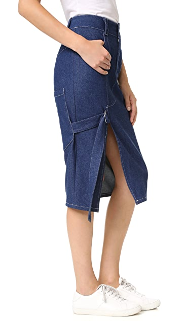 Sandy Liang Cole Denim Skirt