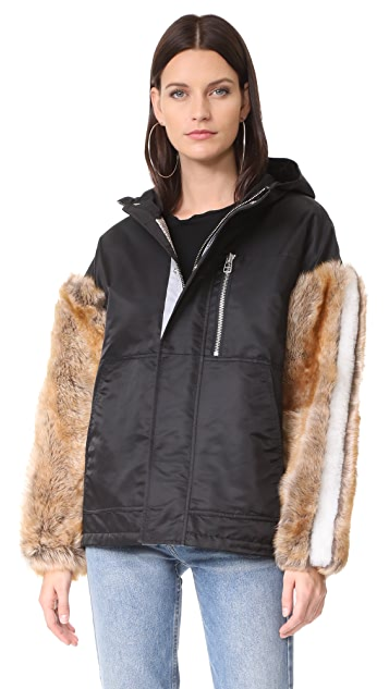Sandy Liang Gilmore Shearling Coat