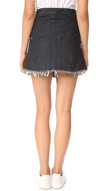 Sandy Liang Embellished Crombie Skirt; Sandy Liang Embellished Crombie Skirt  ...