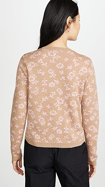 Sandy Liang Floral Sweater