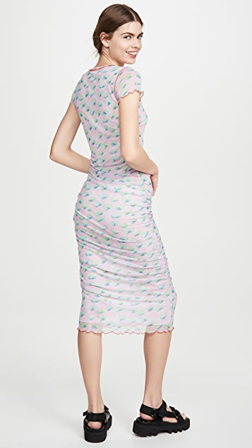 Sandy Liang Cubes Dress Sky Lily