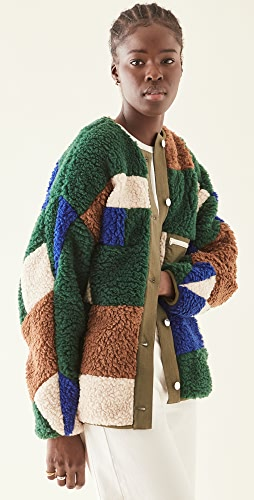 Sandy Liang - 绗缝绒布夹克
