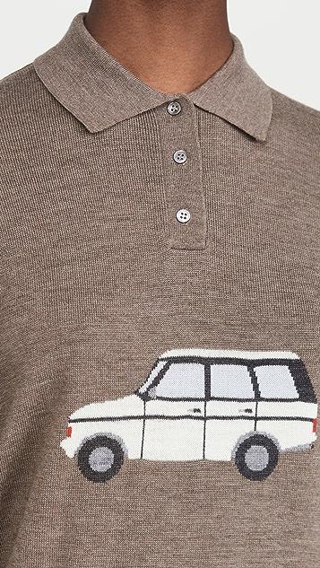 Sandy Liang Car Polo Sweater