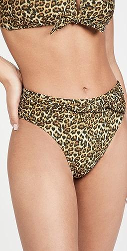 solido - High Waisted Twist Bikini Bottoms