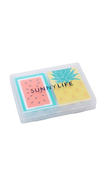 SunnyLife Pineapple & Watermelon Playing Cards