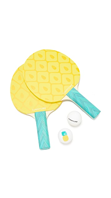 SunnyLife Pineapple Ping Pong Set