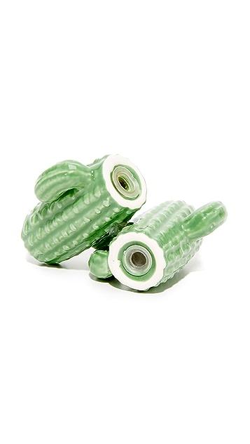 SunnyLife Cactus Salt & Pepper Shakers
