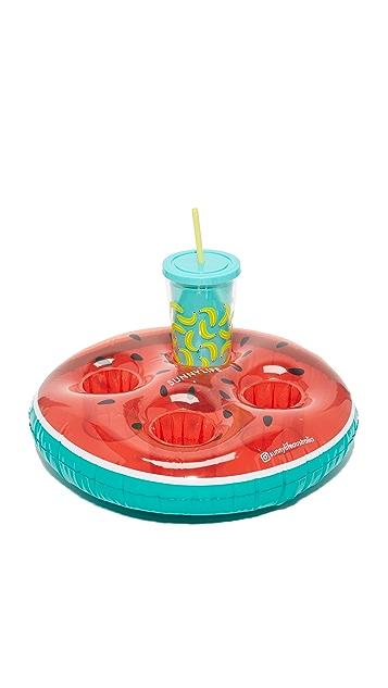 SunnyLife Inflatable Watermelon Drink Holder