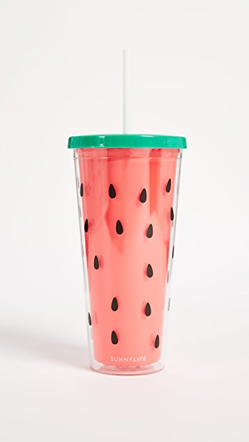 SunnyLife Watermelon Tumbler