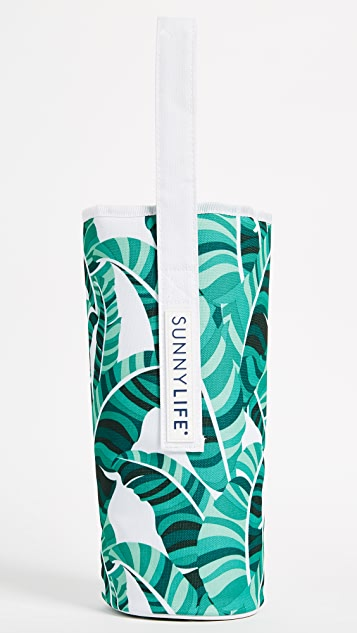 SunnyLife Banana Palm Cooler Bottle Tote - Green