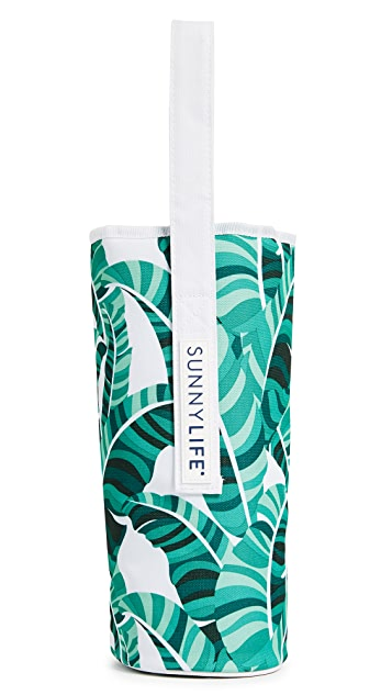 SunnyLife Banana Palm Cooler Bottle Tote