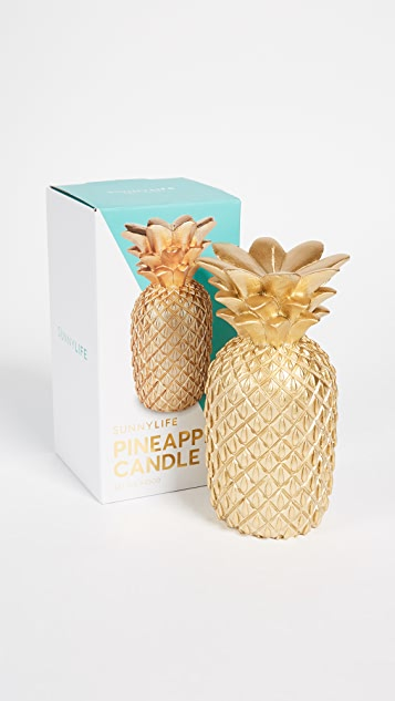 SunnyLife Pineapple Candle - Gold