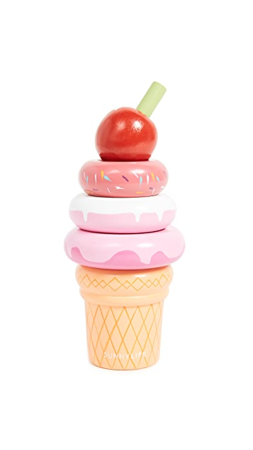 SunnyLife Toddler Stacking Toy Ice Cream